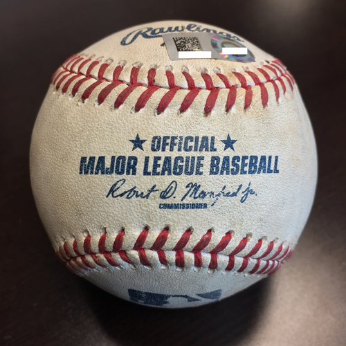 Photo of Astros vs. Cubs September 11th, 2016 Game-Used Jake Arrieta to Jake Marisnick Baseball