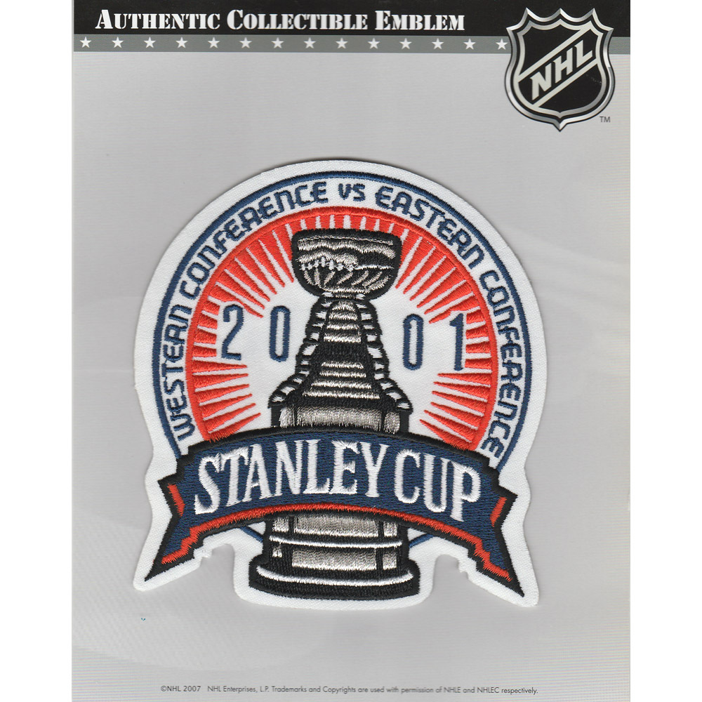 2001 NHL Stanley Cup Final Jersey Patch (Colorado Avalanche vs. New Jersey Devils)