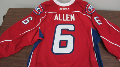 AHL RED GAME ISSUED BRYAN ALLEN JERSEY (2 OF 2)