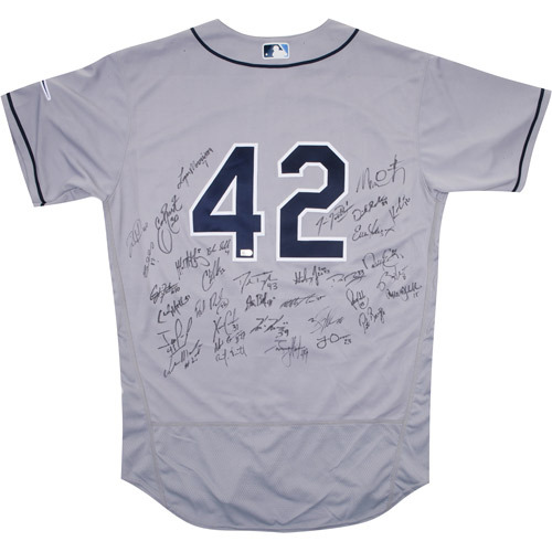 Photo of 2017 Jackie Robinson Day Jersey - Tampa Bay Rays Team Autographed Jersey