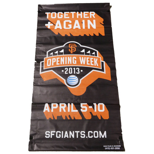 Photo of San Francisco Giants - 2013 Vinyl Street Banner - Opening Week (Black)