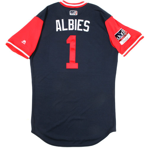 "Photo of Ozzie ""Albies"" Albies Atlanta Braves Game-Used Players Weekend Jersey"
