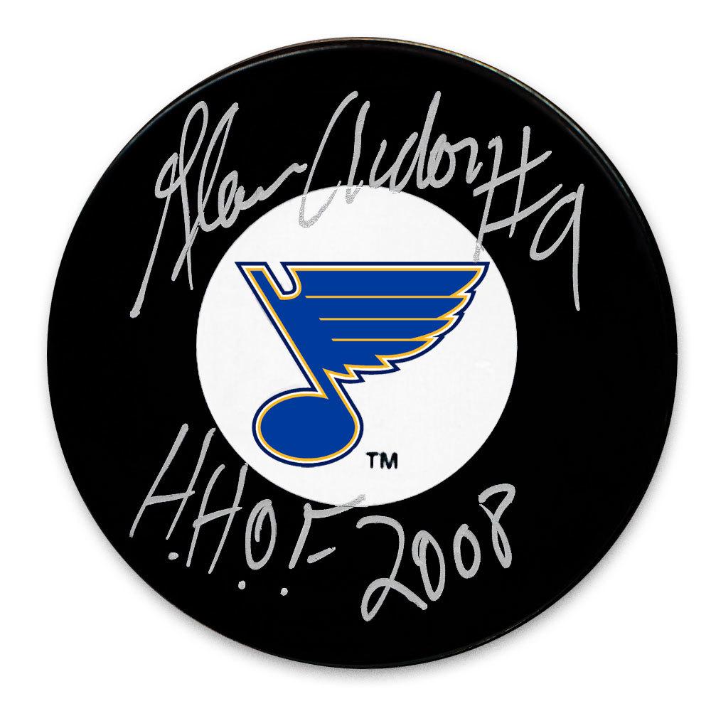 Glenn Anderson St. Louis Blues HOF Autographed Puck
