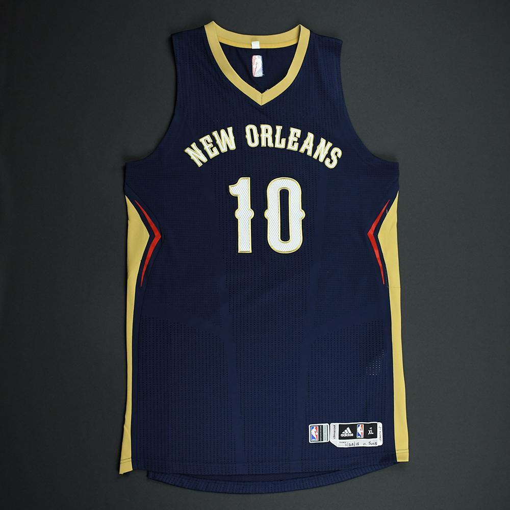 Eric Gordon - New Orleans Pelicans - Game-Worn Regular Season Jersey - 2015-16 Season