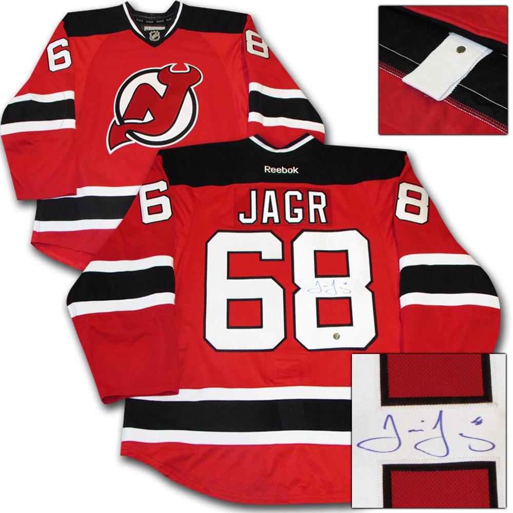Jaromir Jagr Autographed New Jersey Devils Authentic Pro Jersey