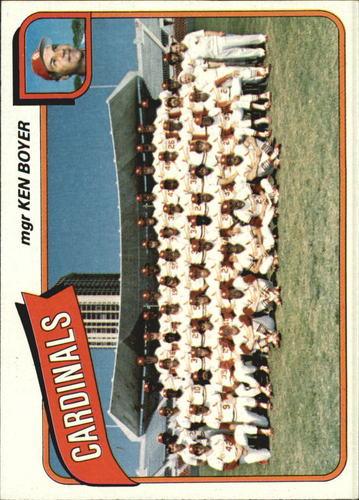 Photo of 1980 Topps #244 St. Louis Cardinals CL/Ken Boyer MG