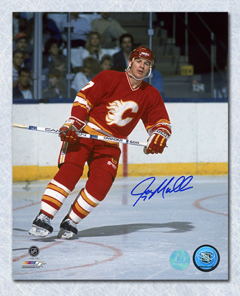 Joe Mullen Calgary Flames Autographed Hockey 16x20 Photo