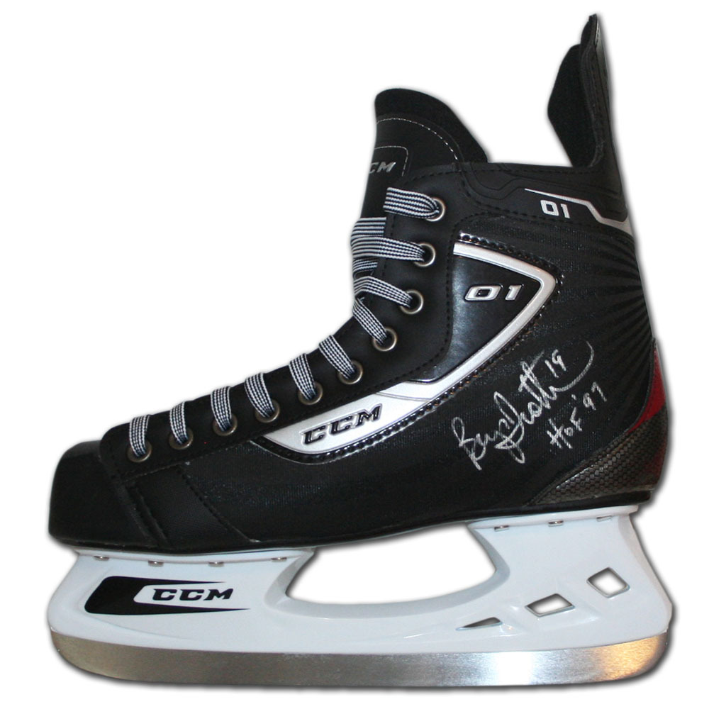 Bryan Trottier Autographed CCM Hockey Skate (New York Islanders, Pittsburgh Penguins)