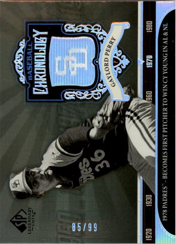 Photo of 2006 SP Legendary Cuts Baseball Chronology Platinum #GP Gaylord Perry