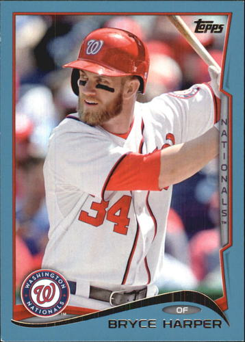 Photo of 2014 Topps Wal-Mart Blue Border #100 Bryce Harper