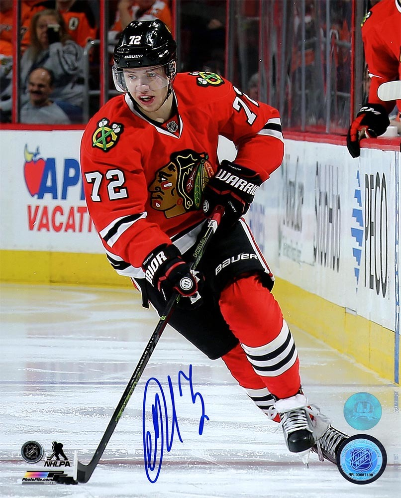 Artemi Panarin Chicago Blackhawks Autographed Hockey Playmaker 8x10 Photo *Columbus Blue Jackets*