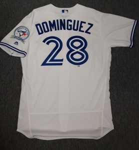 Toronto Blue Jays Authenticated Team Issued 2016 Jersey - #28 Matt Dominguez