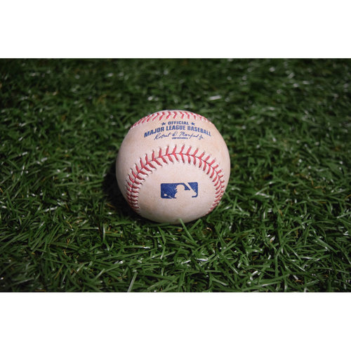 Photo of Game-Used Baseball: Tim Beckham Single and Kevin Kiermaier Single off Tommy Kahnle
