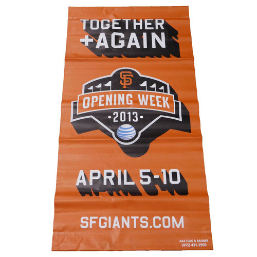 Photo of San Francisco Giants - 2013 Vinyl Street Banner - Opening Week (Orange)