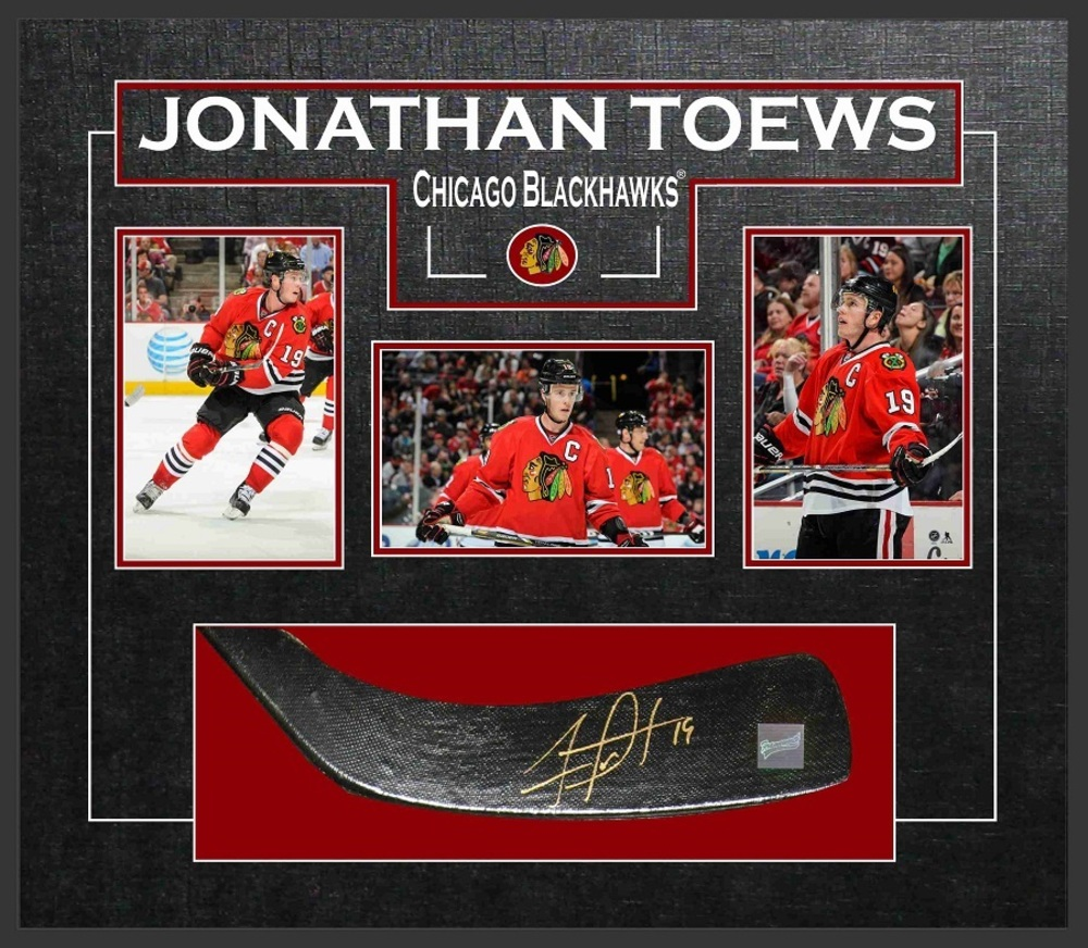 Jonathan Toews - Signed & Framed Stickblade - Featuring Chicago Blackhawks Photo Collection