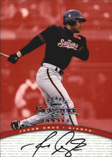 Photo of 1997 Donruss Signature Autographs #24 Jacob Cruz/3900 *