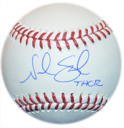 Photo of Noah Syndergaard - Autographed Major League Baseball - Inscribed