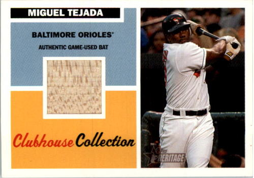 Photo of 2005 Topps Heritage Clubhouse Collection Relics #MT Miguel Tejada Bat B