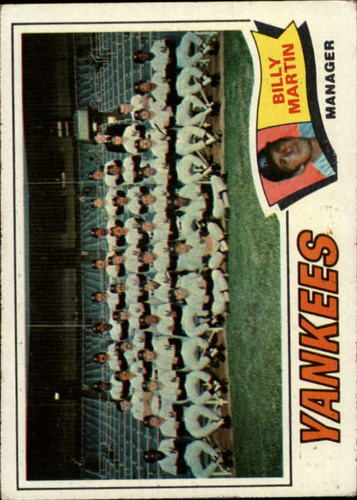 Photo of 1977 Topps #387 New York Yankees CL/Billy Martin MG
