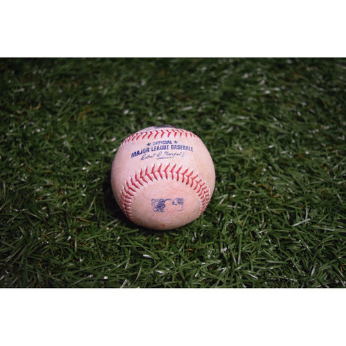 Photo of Game-Used Baseball: Jesus Sucre RBI Double off Andrew Triggs