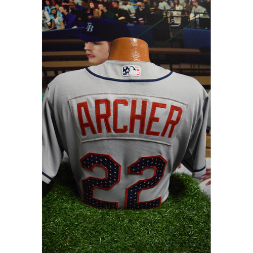Photo of 2017 Game-Used July 4th Jersey: Chris Archer