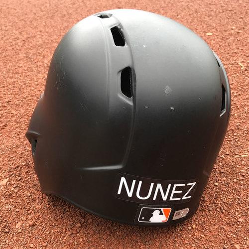Photo of San Francisco Giants - Game-Used Helmet - Eduardo Nunez - Worn on July 25th, 2017 - 1-2, 2 RBIs, 2B, 2 R, SB
