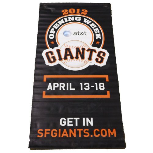 Photo of San Francisco Giants - 2012 Vinyl Street Banner - Opening Week