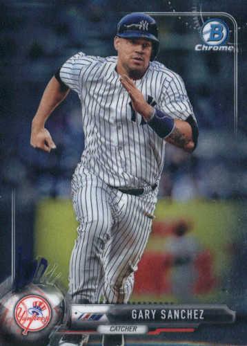 Photo of 2017 Bowman Chrome #64 Gary Sanchez  -- Yankees post-season