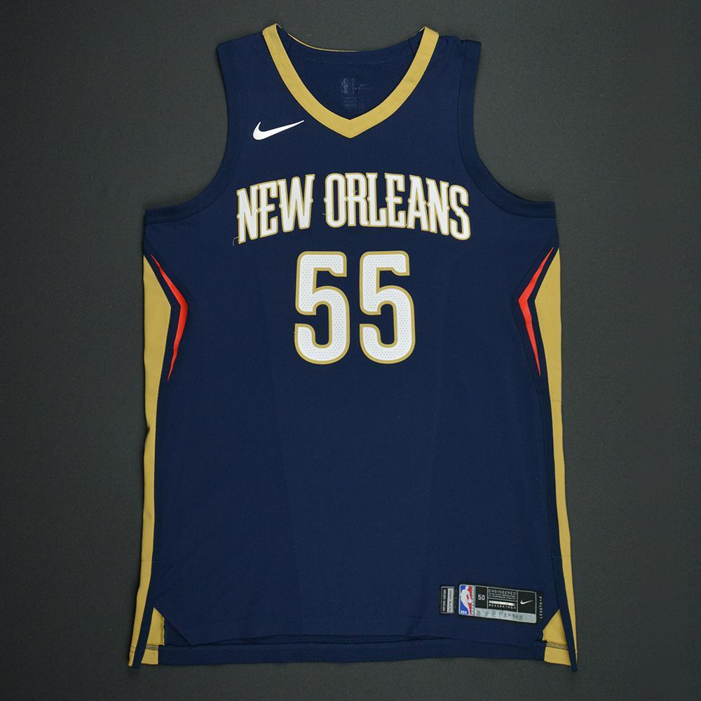 E'Twaun Moore - New Orleans Pelicans - Kia NBA Tip-Off 2017 - Game-Worn Jersey - Worn During 3 Games