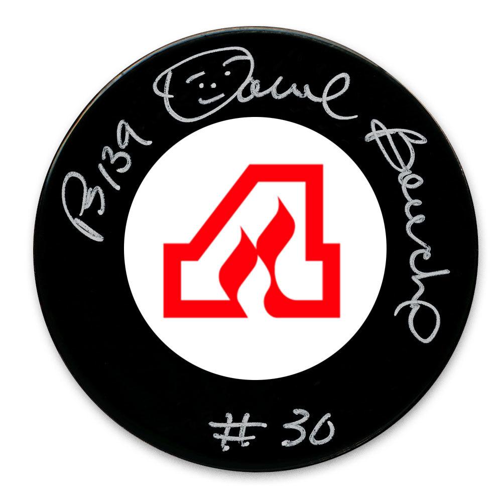 Dan Bouchard Atlanta Flames Autographed Puck