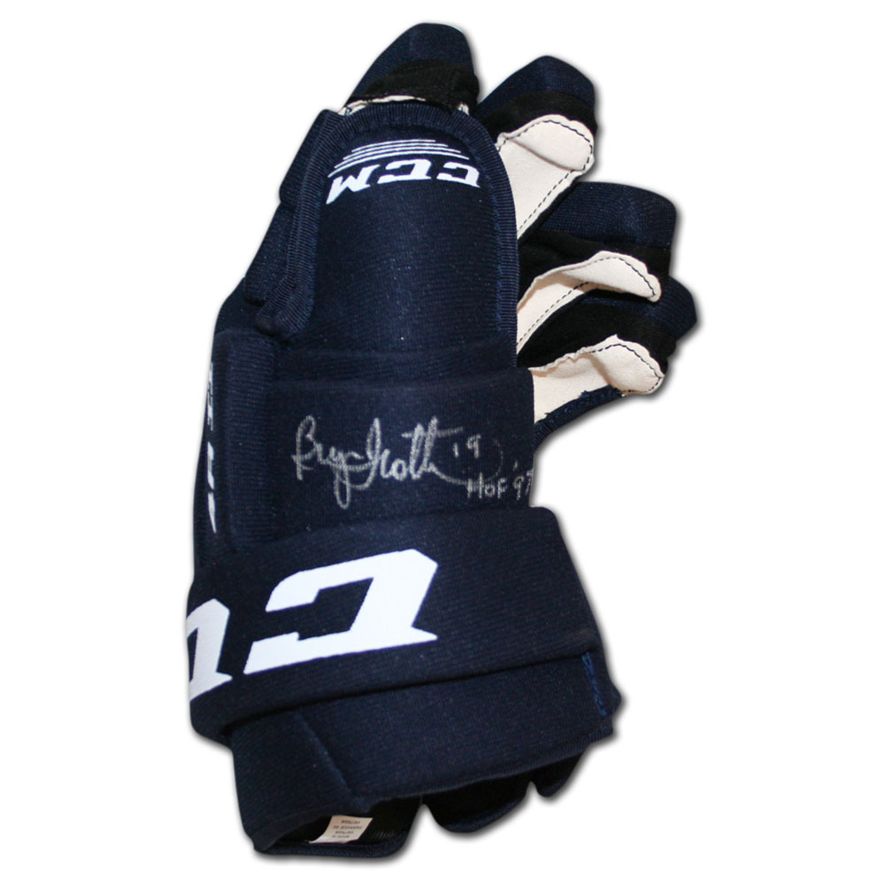 Bryan Trottier Autographed CCM Hockey Glove (New York Islanders, Pittsburgh Penguins)