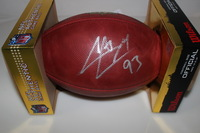 CARDINALS - CALAIS CAMPBELL SIGNED AUTHENTIC FOOTBALL