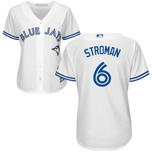 Toronto Blue Jays Women's Marcus Stroman Replica Home Jersey by Majestic