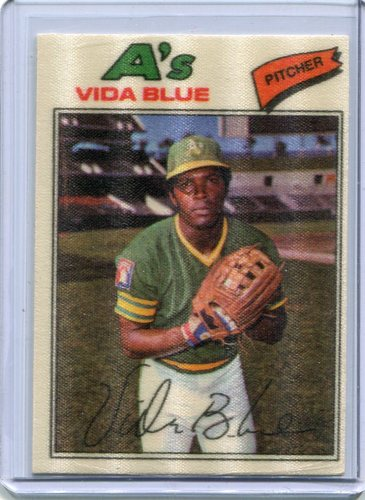 Photo of 1977 Topps Cloth Stickers #4 Vida Blue