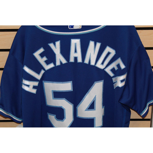 Photo of Game-Used Scott Alexander Jersey (Size 48) (9/24/16 KC @ DET)
