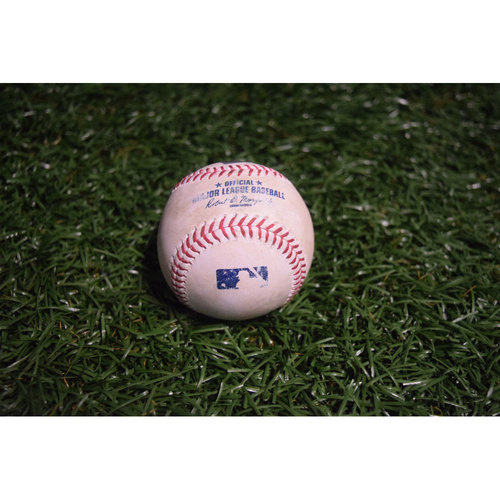 Photo of Game-Used Baseball: Jake Odorizzi Strikes Out Luis Valbuena and Andrelton Simmons Single off Odorizzi