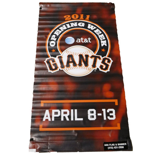 Photo of San Francisco Giants - 2011 Vinyl Street Banner - Opening Week