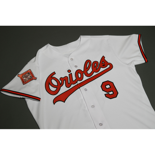 Photo of Cal Ripken Jr. Autographed, Team-Issued 25th Anniversary Jersey