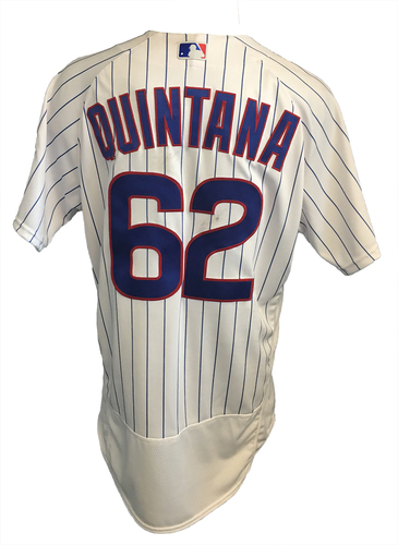 Photo of Jose Quintana Game-Used Jersey -- Quintana 10th Win (7 IP, 2 ER, 7 K) -- Mets vs. Cubs -- 9/12/17