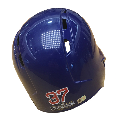 Photo of Justin Wilson 2017 Postseason Batting Helmet