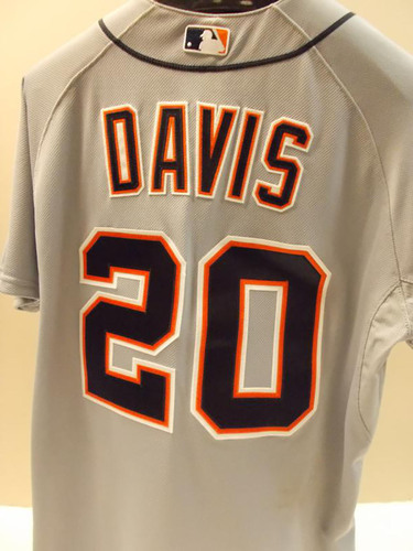 Photo of Game-Used Rajai Davis Road Jersey
