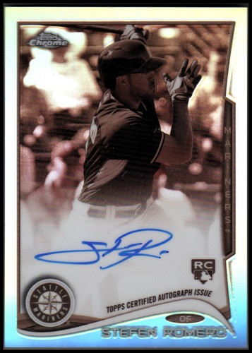 Photo of 2014 Topps Chrome Rookie Autographs Sepia Refractors #23 Stefen Romero