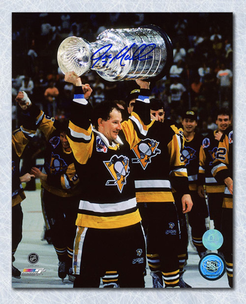 Joe Mullen Pittsburgh Penguins Autographed Stanley Cup 8x10 Photo