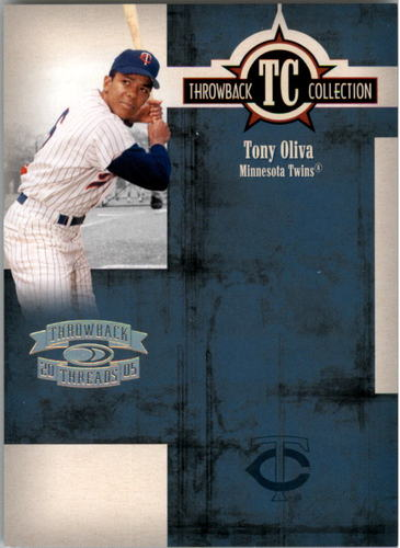Photo of 2005 Throwback Threads Throwback Collection Spectrum #6 Tony Oliva