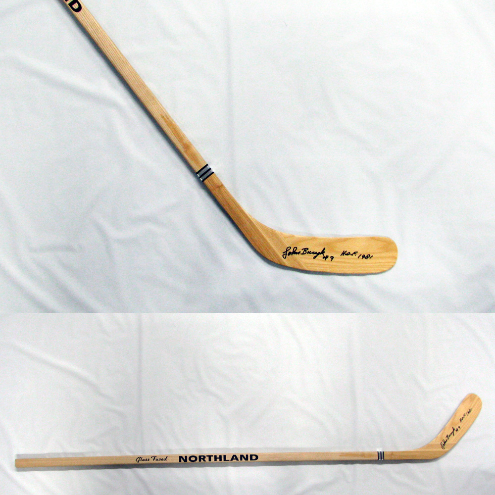 JOHN BUCYK Signed Northland Stick Inscribed HOF 1981 - Boston Bruins