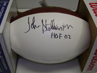HOF - STEELERS JOHN STALLWORTH SIGNED PANEL BALL