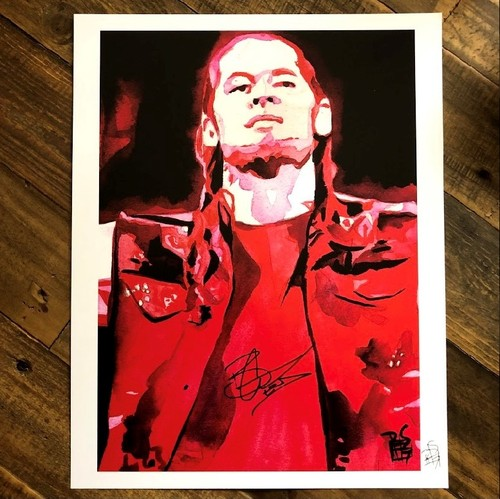 Photo of Baron Corbin SIGNED 11 x 14 Rob Schamberger Print