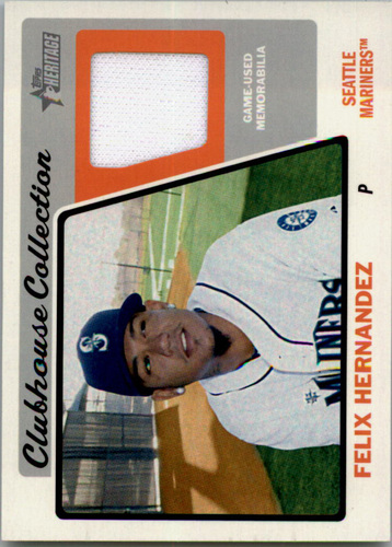 Photo of 2015 Topps Heritage Clubhouse Collection Relics #CCRFH Felix Hernandez