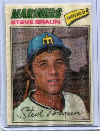 Photo of 1977 Topps Cloth Stickers #6 Steve Braun SP