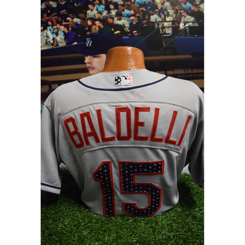 Photo of 2017 Game-Used July 4th Jersey: Rocco Baldelli